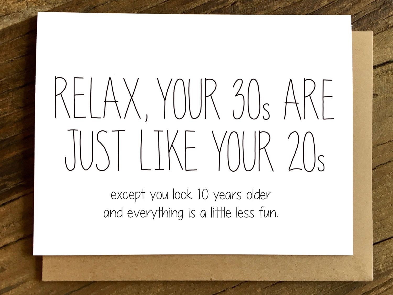 Funny Birthday Card 30th Birthday Card Birthday Card 20s And 30s 30th Birthday Cards 30th Birthday Quotes Birthday Quotes Funny