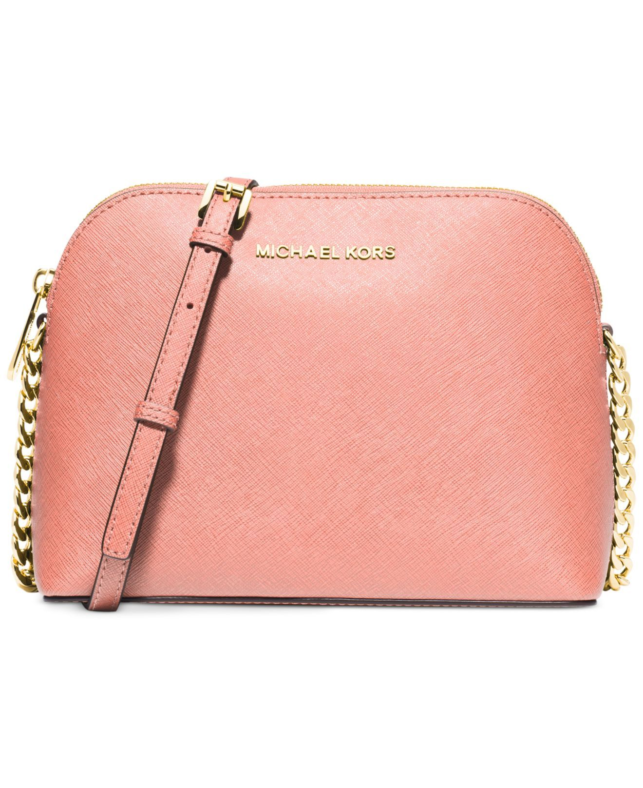 Michael kors Michael Cindy Large Dome Crossbody in Pink (Pale Pink Gold)  6953e8da8ce9d
