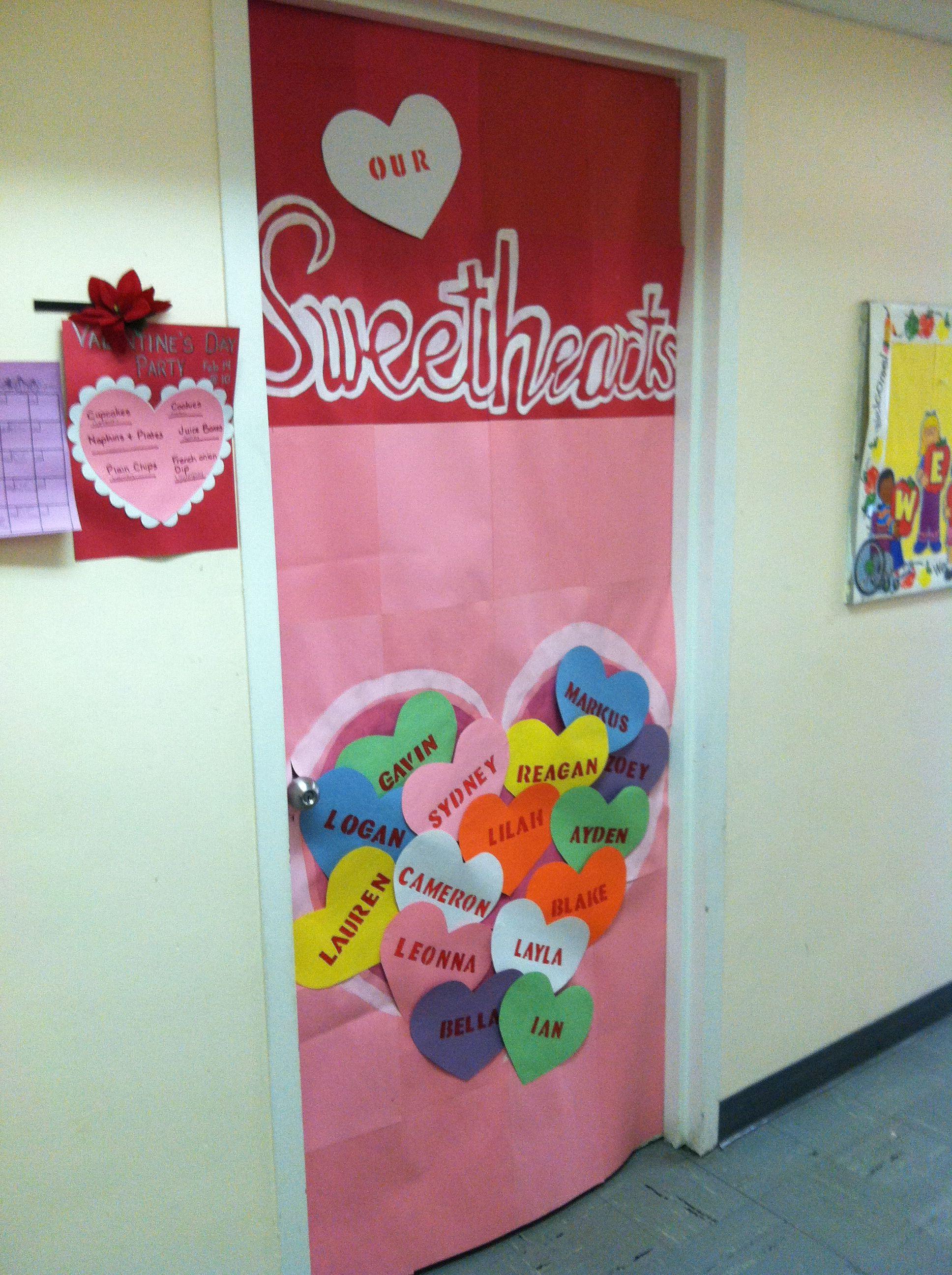 Valentine Door 1 Nonthemed Stage Jan Feb Mar Classroom Door