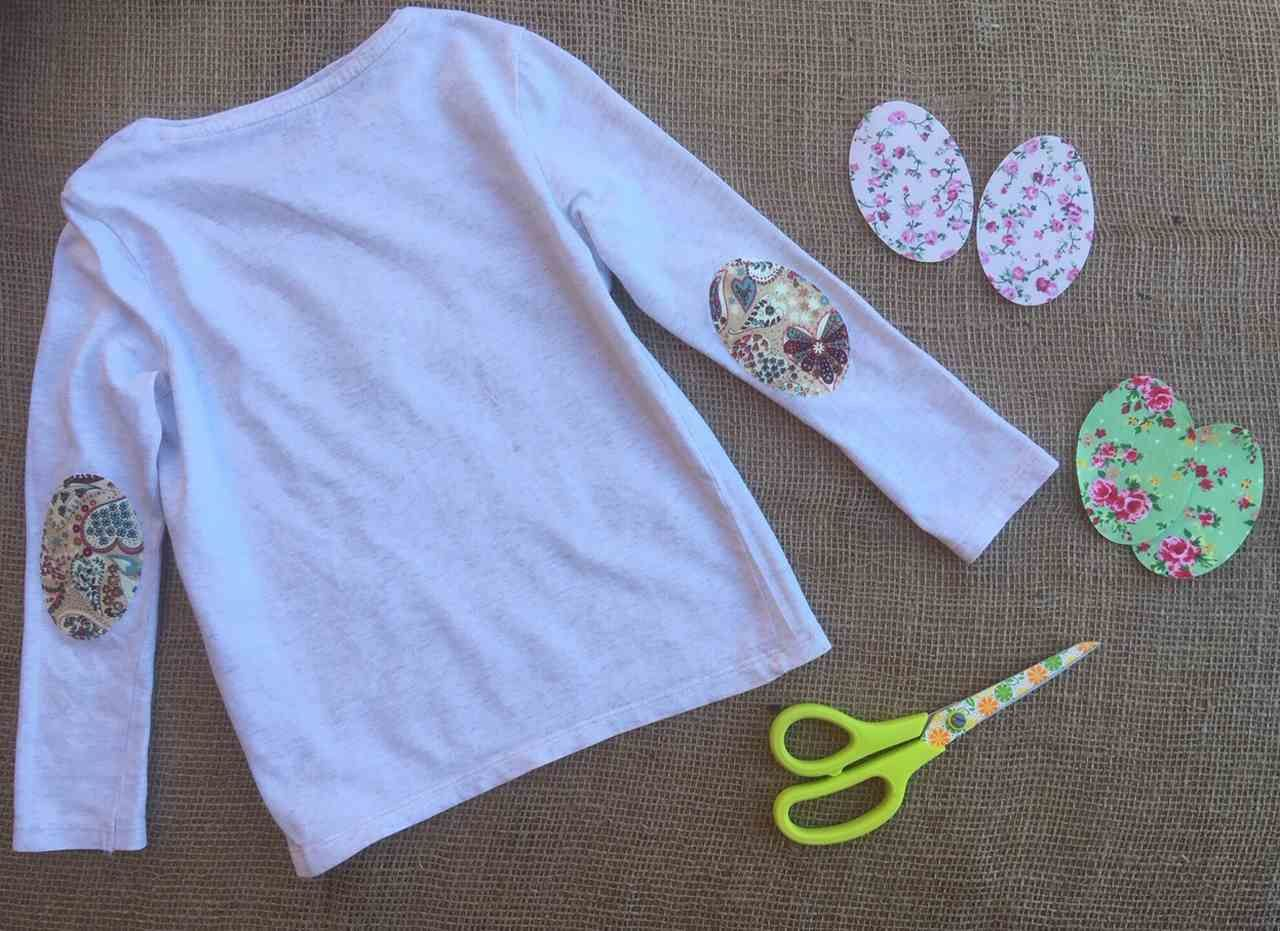 Heart motif Iron on Patches T Shirt Transformation