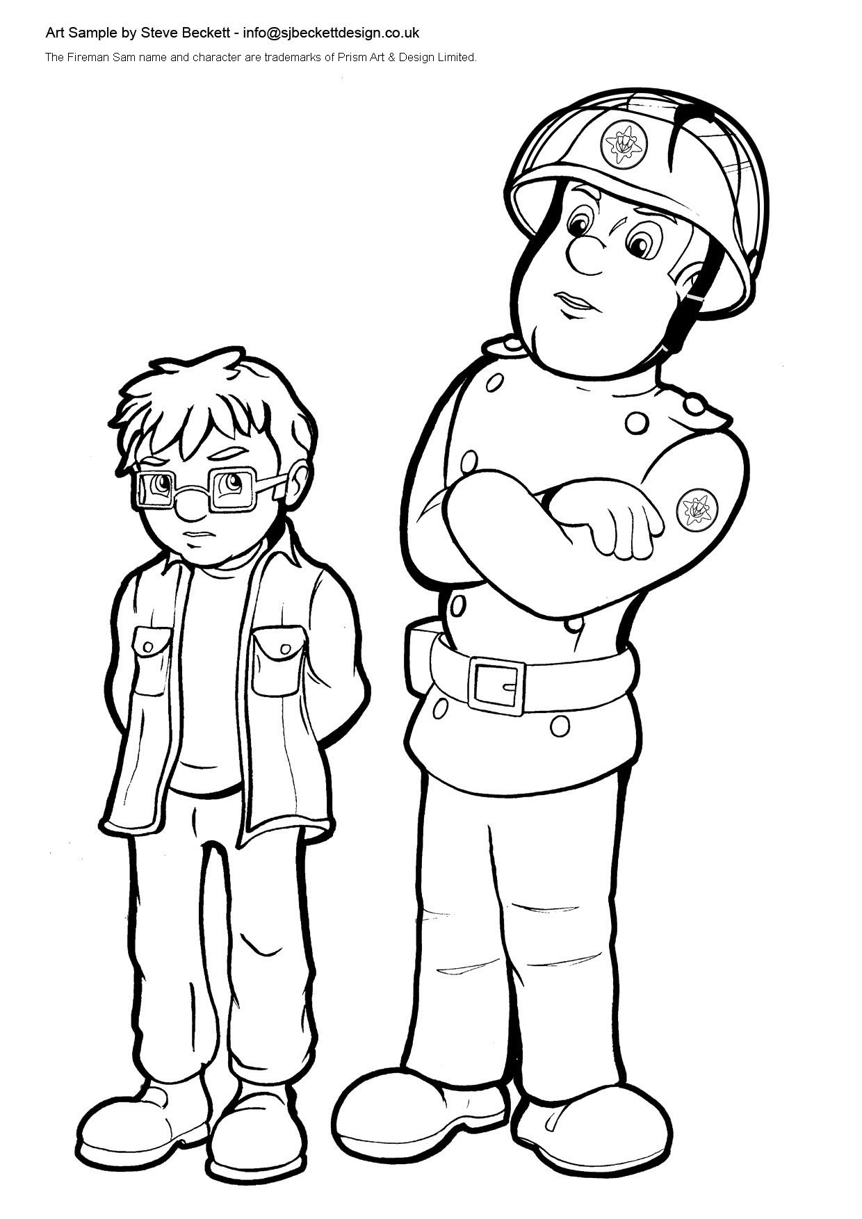 Sbeckett fireman 1240 1754 stuff to print for Coloring pages fireman sam