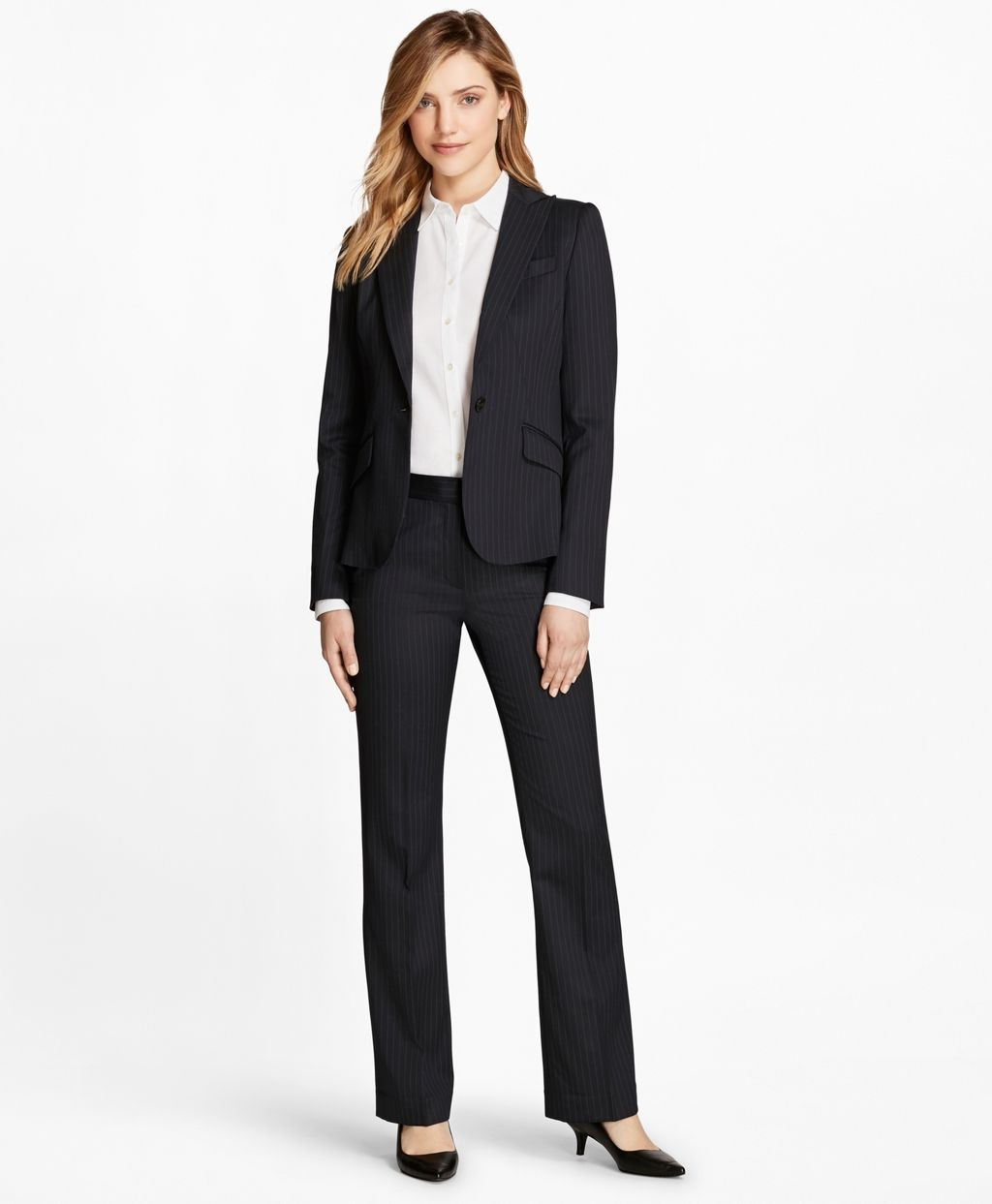Brooks Brothers Suit Is An Example Of A Business Formal Outfit For The Business Professional Business Professional Attire Professional Dresses Business Dresses