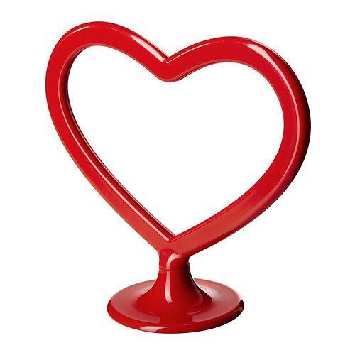 Ikea Karleken Heart Shape Picture Frame for 2 Pictures Red 7\