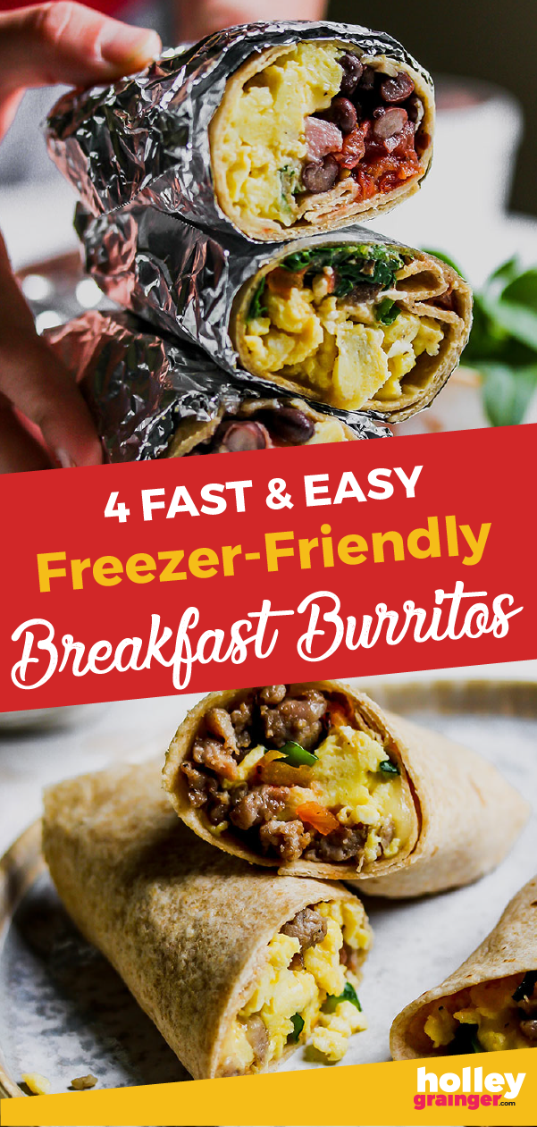 4 Fast & Easy Make Ahead Breakfast Burritos for the Freezer images