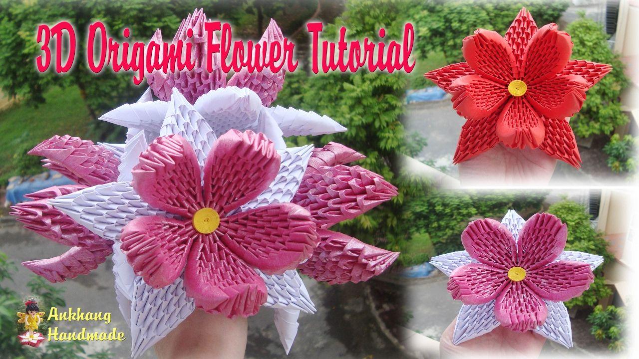 How To Make 3d Origami Flower V2 Diy Paper Flower Tutorial