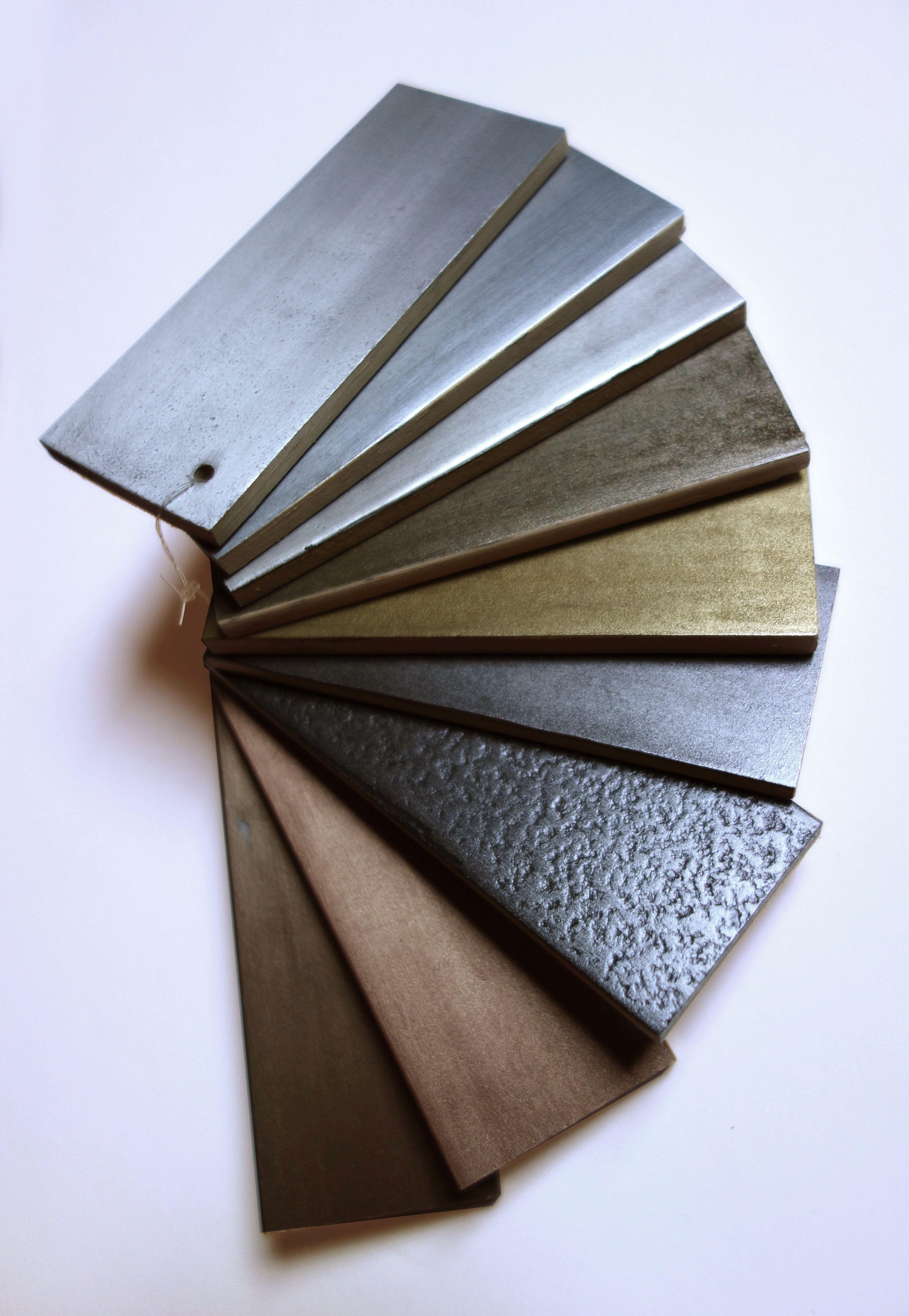 Nuancier Des Enduits Métalliques étain Aluminium Zinc