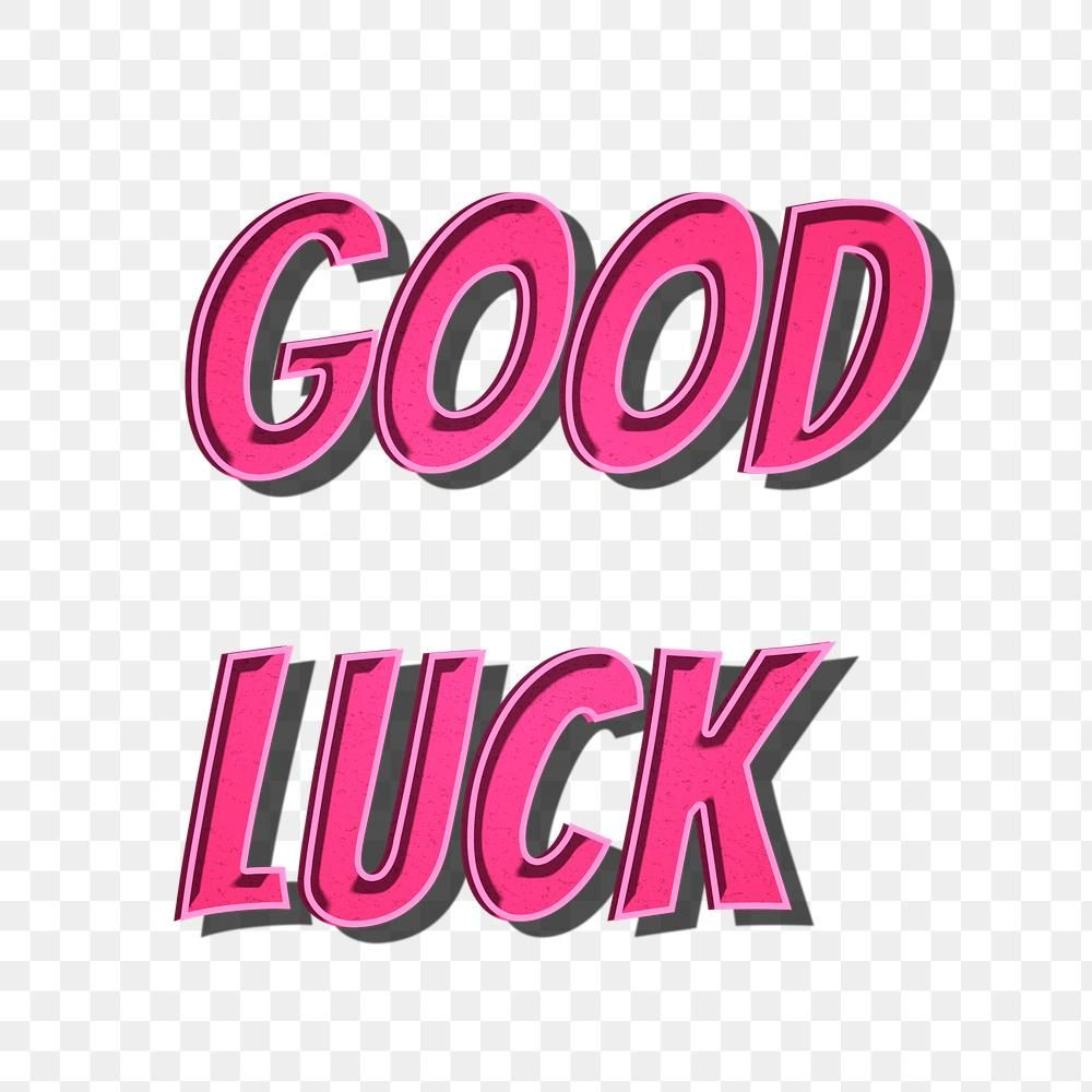 Good Luck Png Cartoon Word Sticker Typography Free Image By Rawpixel Com Chim Typography Cool Words Words
