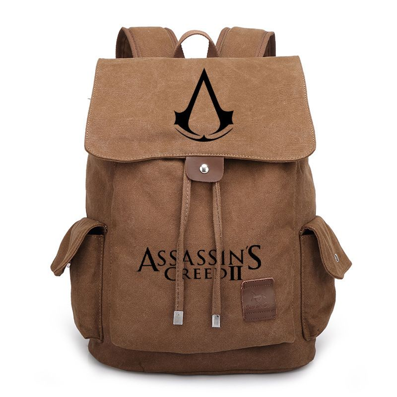 654e14620e 2017 New Assassin s Creed Canvas Backpack Travel Bags School Bag Satchel  Rucksack Men Women Boy Girls