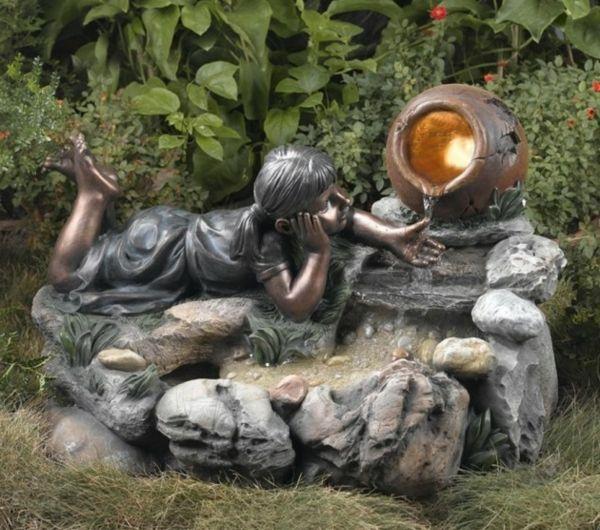 Une fontaine de jardin design – quelques idées en photos fascinantes – Archzine.fr