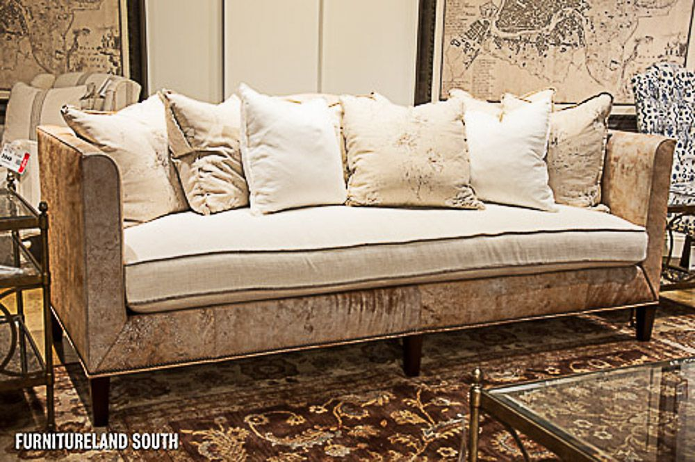 Drexel Heritage Messmer One Cushion Sofa With Nailhead Trim Single
