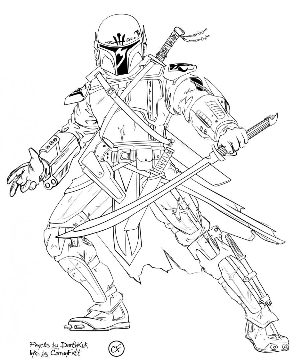 Pin by Traropa Customs on . Mandalorian Coloring pages