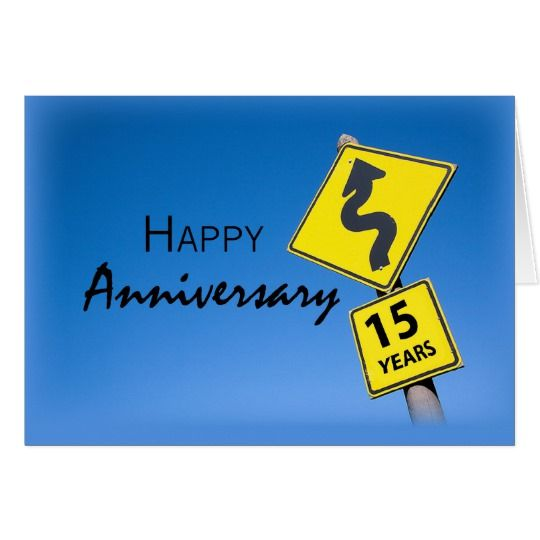 15 year employee anniversary congratulations sign card business