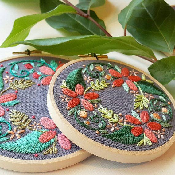 Digital hand embroidery pattern floral wreath digital download digital hand embroidery pattern floral wreath digital download pdf modern embroidery beginner needlepoint hoop design dt1010fo
