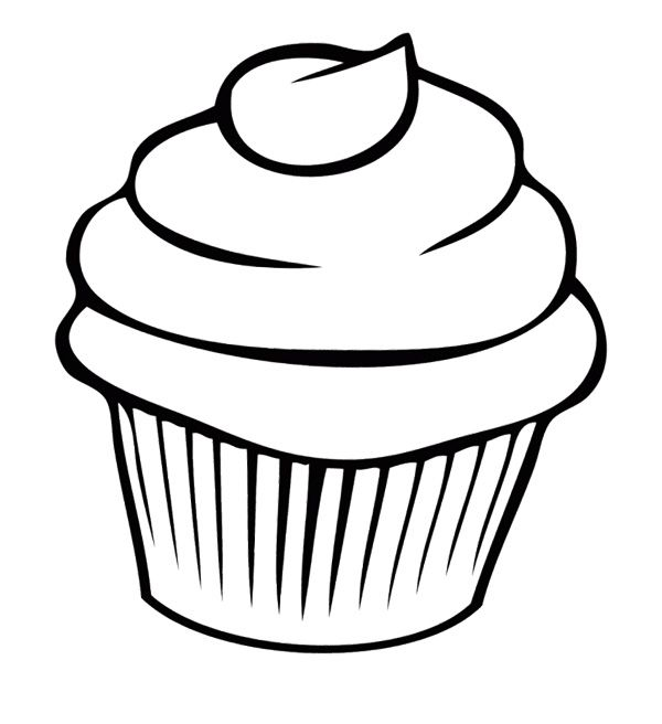 Cupcake Chocolate Coloring Page | Cookie | Pinterest