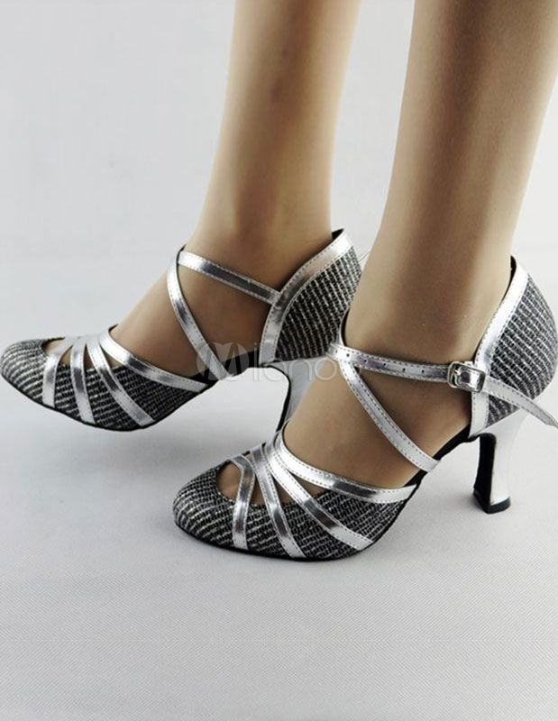 Zapatos baile latino 2018 Zapatos de baile latino Zapatos de salón de mujer  Criss Cross Almond Toe