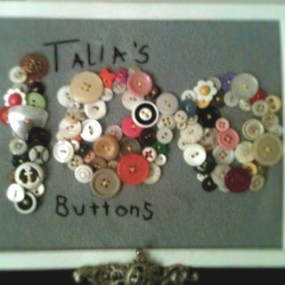 """100 misc old buttons... School project for """"100 days of school"""""""