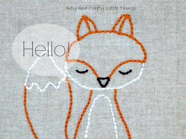 Meet Mr. Fox | Art Ideas | Pinterest | Bordado, Bordado zorro and ...