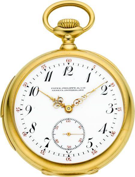 Patek Philippe & Cie Fine & Rare Minute Repeating Gold Pocket Watch, circa 1907