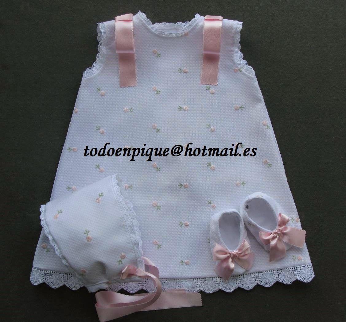 818a36aee TODO EN PIQUE para bebé  temporada 2015 Faldones en piqué para bebé  Vestidos Bebe Niña