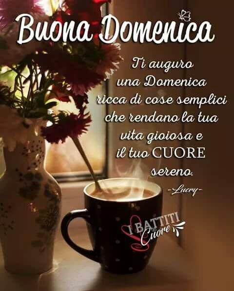 Открытка хорошего воскресного дня на итальянском языке