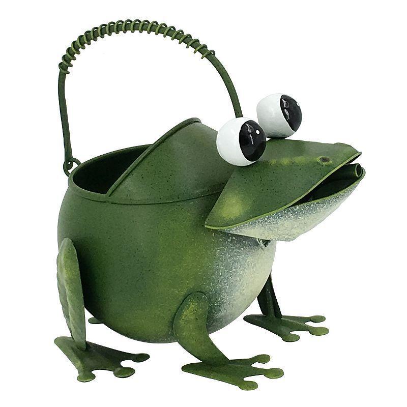 Celebrate Spring Together Indoor / Outdoor Metal Frog Watering Can, Multicolor