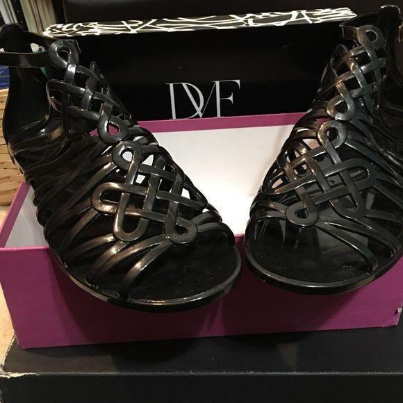 Diane Von Furstenberg Jaya Jelly Sandals Shoes 10 New Diane Von Furstenberg Jaya Jelly gladiator sandals. Size 10 Color Black Diane von Furstenberg Shoes Sandals
