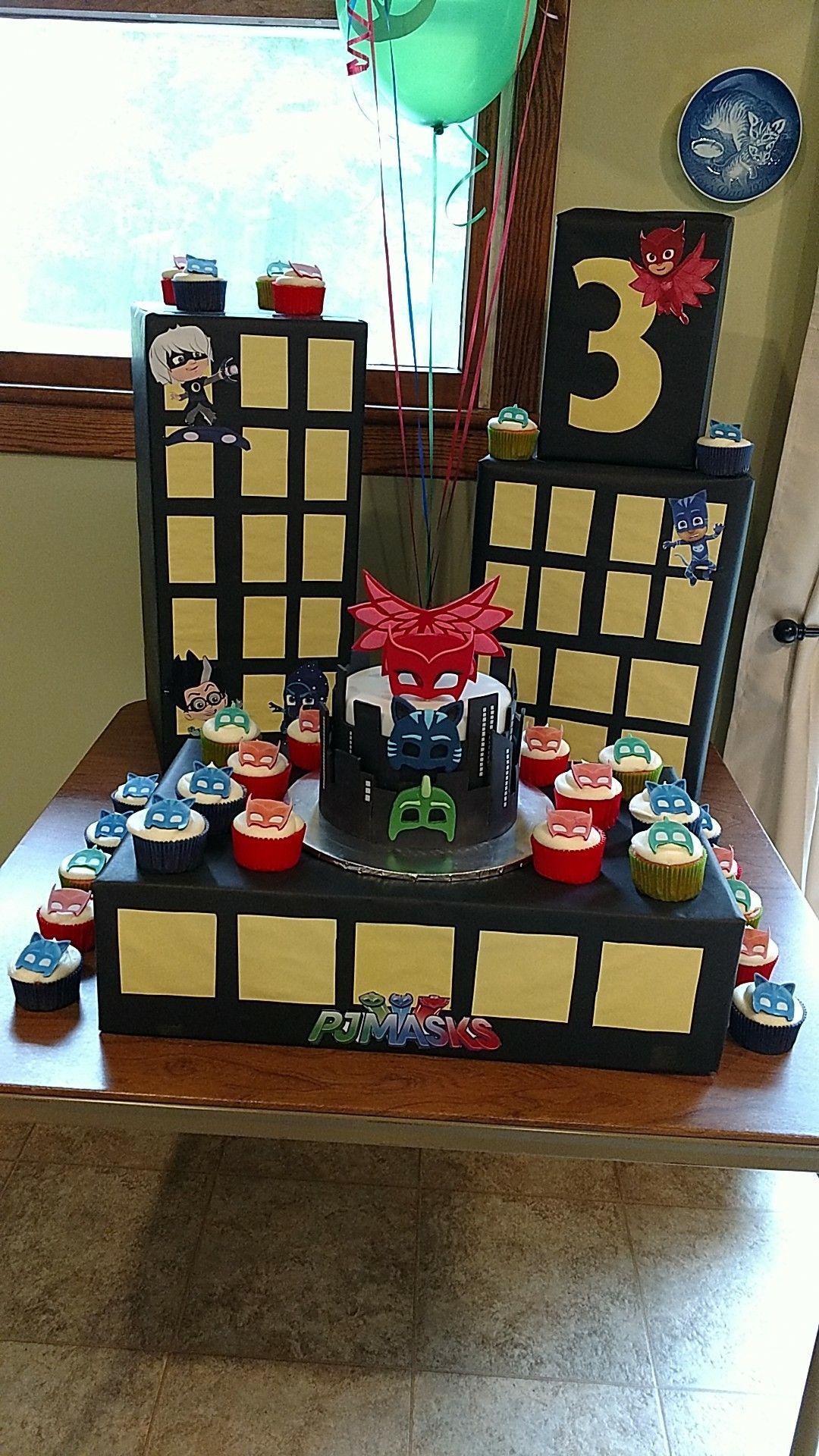PJ Masks City Cake Display Pj Birthday 4th Cakes