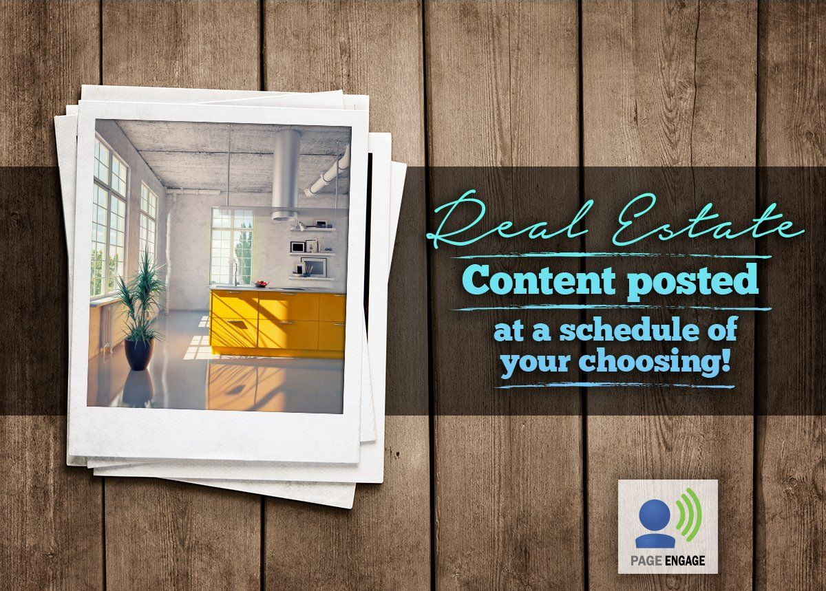 Agents, get real estate content auto-posted to your Facebook page daily with Page Engage!  We'll post interesting images and articles to your page on a schedule of your choosing. Just pick the days you want content to post and we'll handle the rest!
