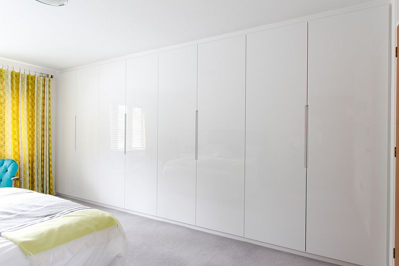Built In Wardrobe Mdfdoor Without Handle White Gloss