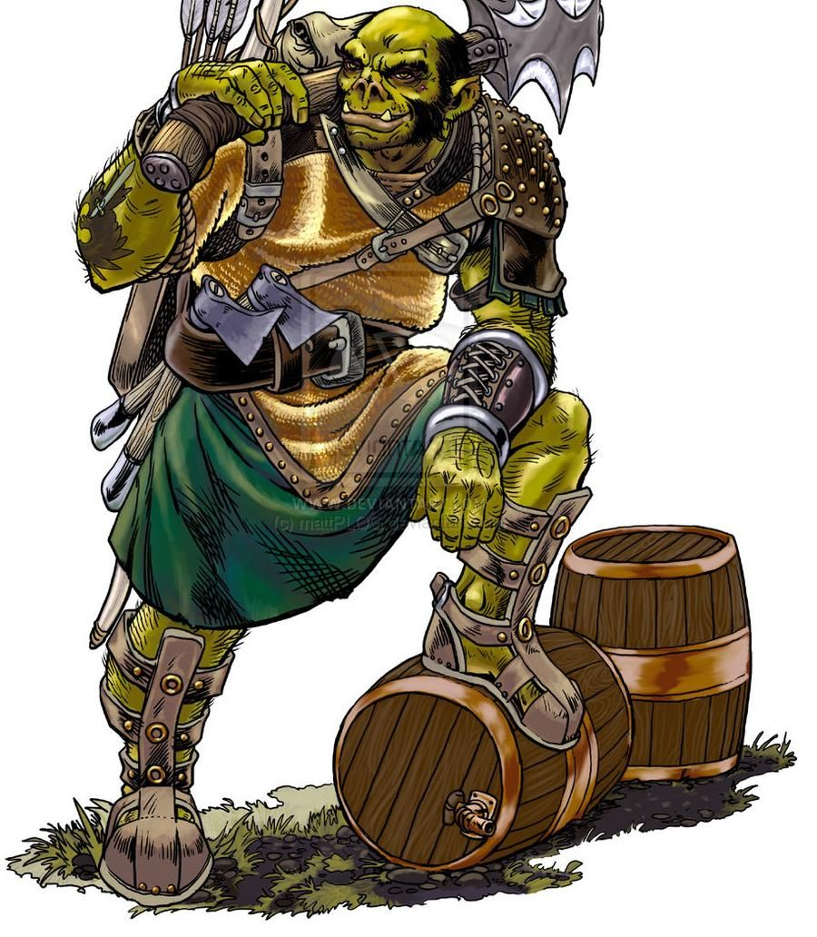 Innkeeper Half Orc Dd Fantasy Characters Fantasy Inspiration