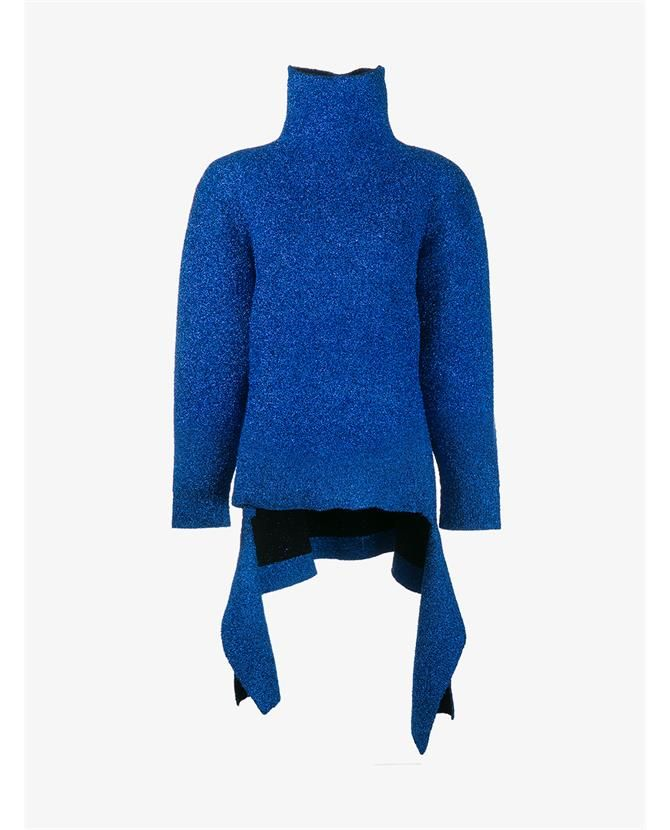 BALENCIAGA Glitter Knit High Neck Sweater. #balenciaga #cloth ...