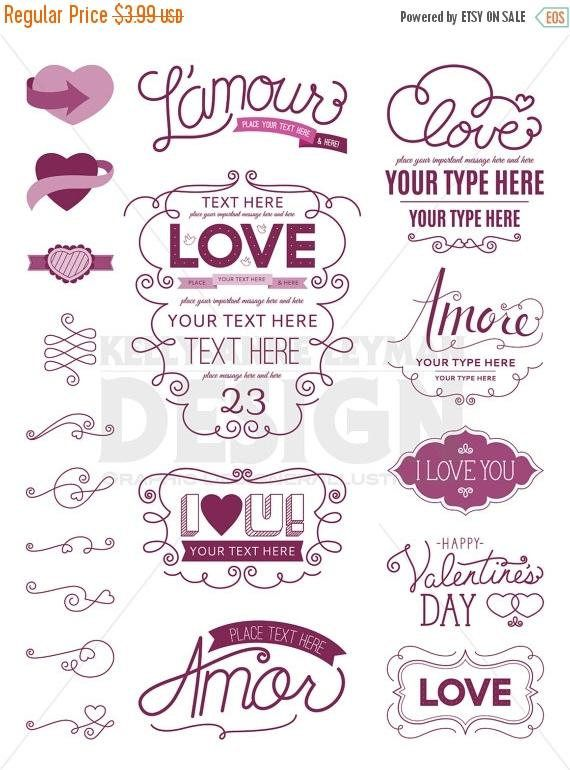 Love Digital Frames Clipart Digital Labels Clip Art Set Etsy Digital Frame Frame Clipart Clip Art