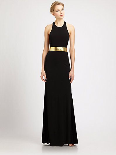 ABS Gold Evening Dresses