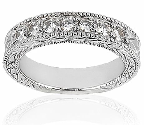 Vintage Style Diamond Wedding Band A day after never Pinterest