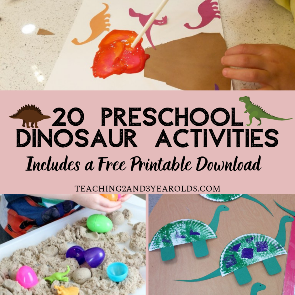 20 Preschool Dinosaur Activities With Free Printable With
