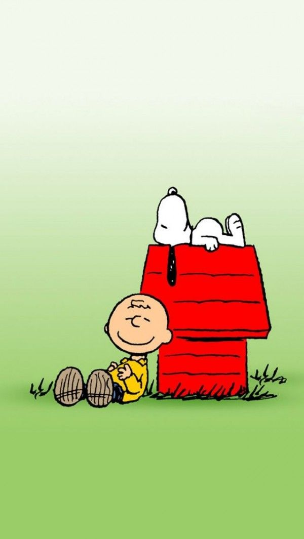 Snoopy And Charlie Brown Iphone Wallpaper Background