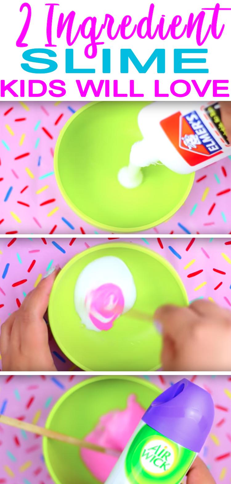 Photo of DIY 2 Ingredient Slime Recipe | How To Make Homemade No Borax Slime