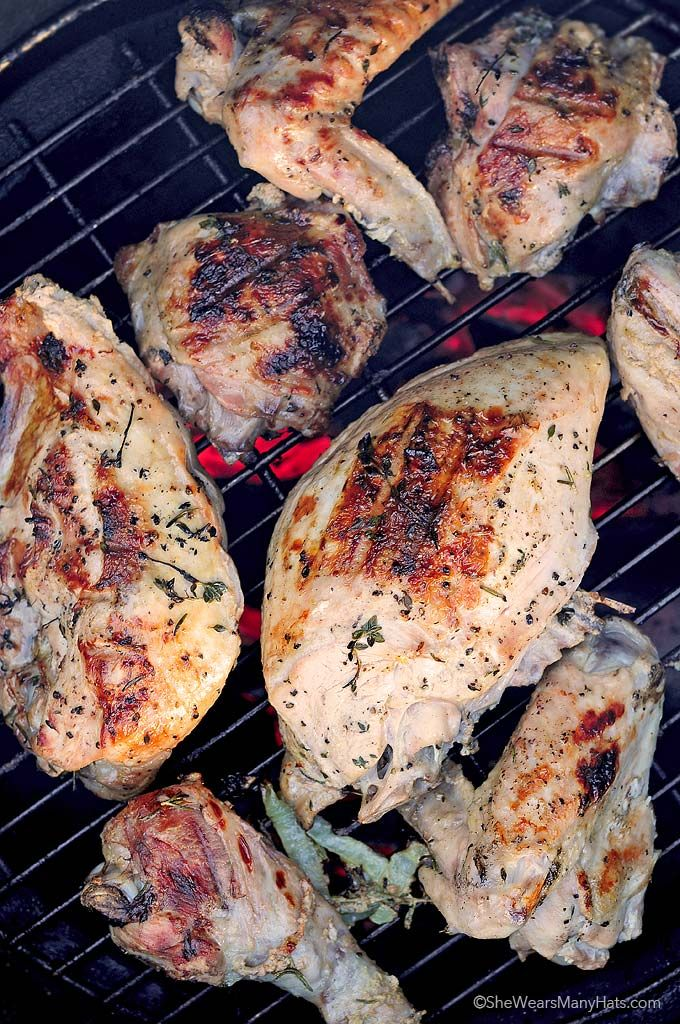 """Serve this mouth-watering grilled turkey this holiday and you won't miss the """"whole bird Norman Rockwell"""" moment a bit. Amy Johnson at She Wears Many Hats offers expert tips and photos to guide you to a turkey revelation.    @wearsmanyhats"""