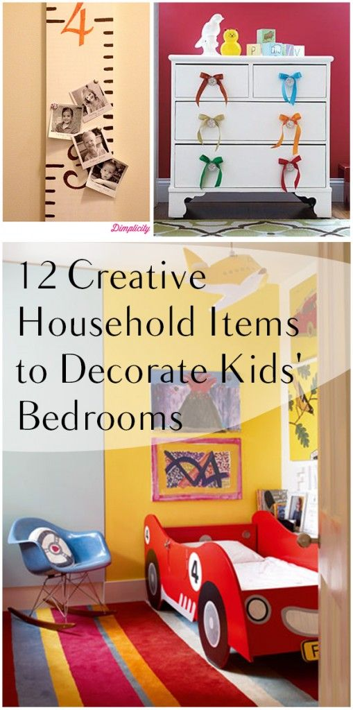 12 Creative Household Items to Decorate Kids\' Bedrooms | Household ...