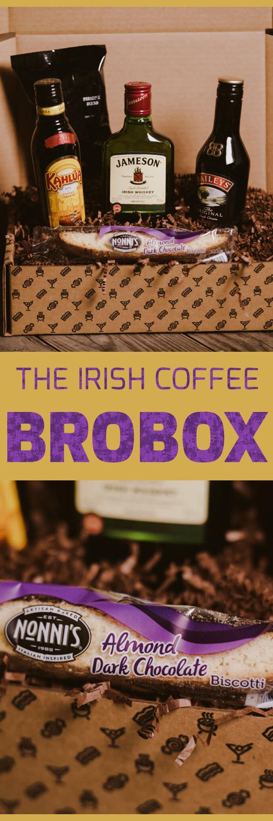The Irish Coffee BroBox Irish coffee, Baileys irish