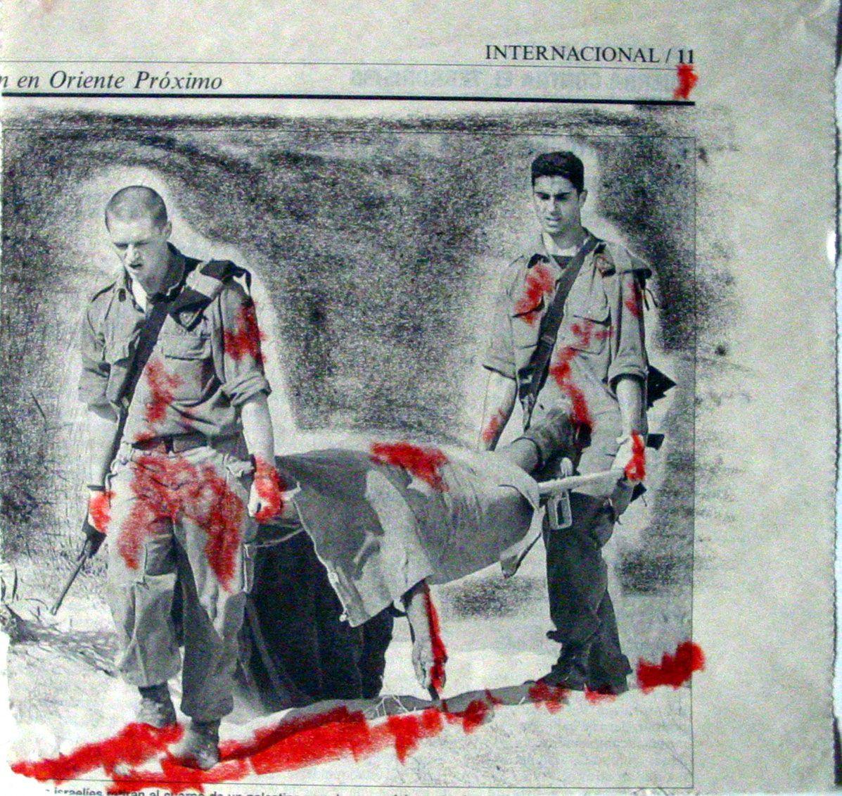 Collage hecho con recorte de periódico el 11S by PVillegas