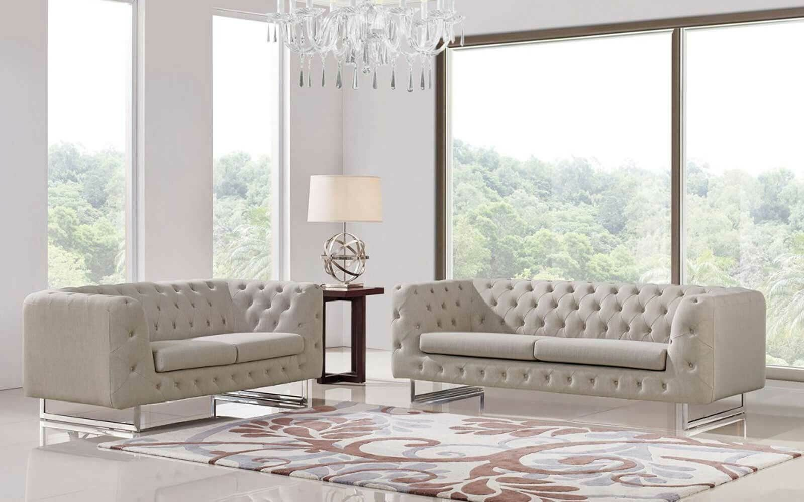Modern Design Living Room Beige Tufted Fabric Sofa Couch Loveseat Chair Set Irvn Sofa Set Ideas Of Sofa Living Room Sofa Chaise Lounge Living Room Sofa Set