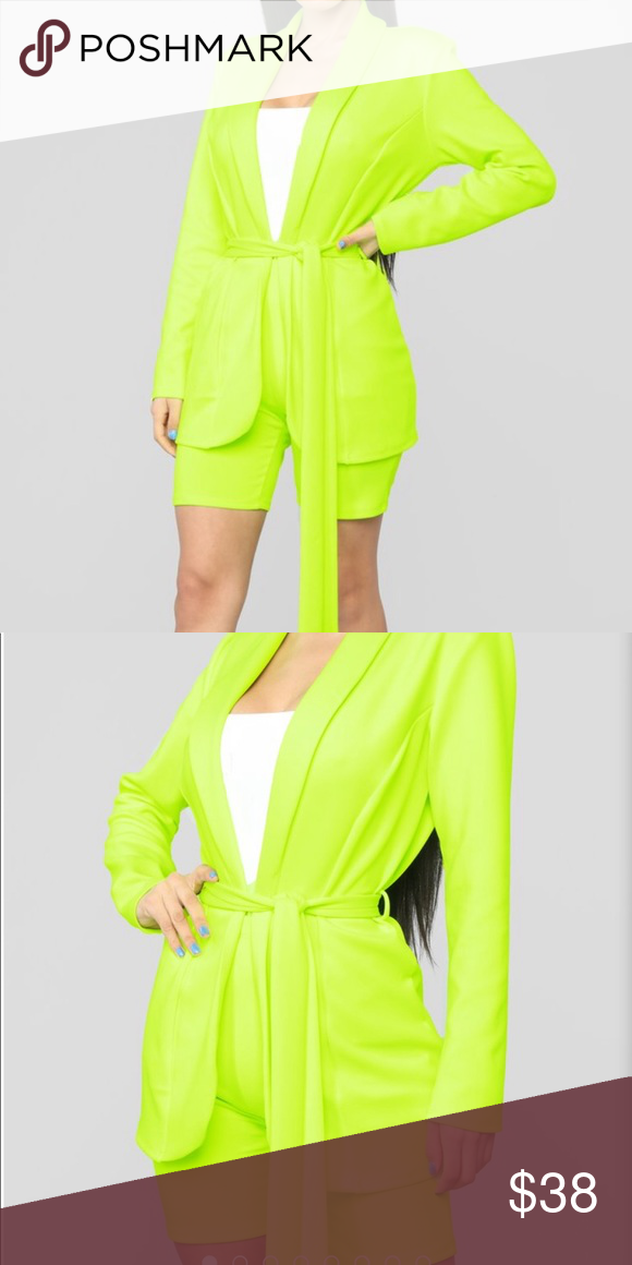 23353f6a51ce Neon two piece biker shorts set Neon Steady on the Go Set Medium New with  tags Fashion Nova Pants Jumpsuits   Rompers