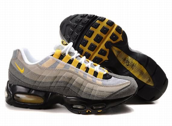 Women Nike Air Max 95 Black Yellow 336620 004 With Images Nike