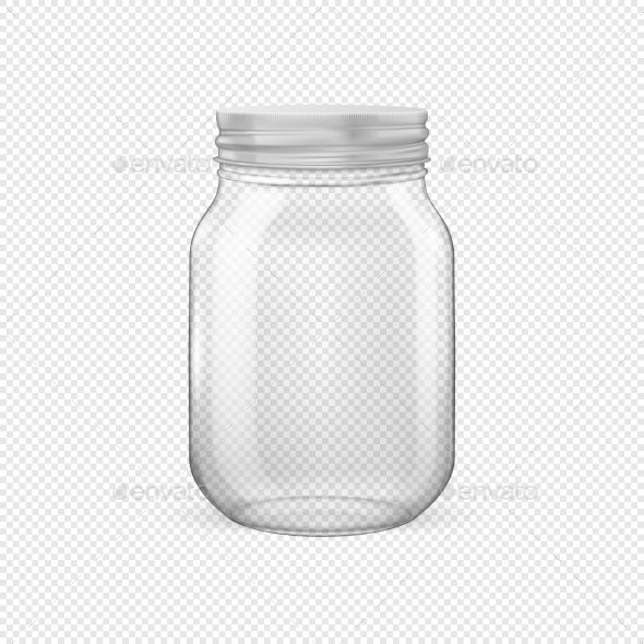 Vector Realistic Empty Glass Jar For Canning Glass Jars Jar