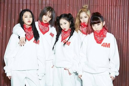 4minute Are Fierce Ladies In Bts Photos Of Their Act 7 Jacket Shoot Allkpop Com Kpop Girls 4minute Kpop Girl Groups