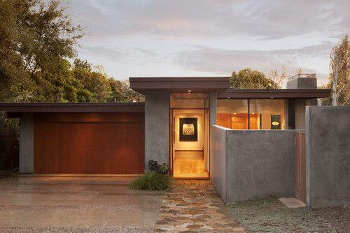Google Image Result For Http St Houzz Com Simages 858040 0 4 0275 Modern Exterior Jpg Mid Century Modern Exterior Modern Exterior Flat Roof House