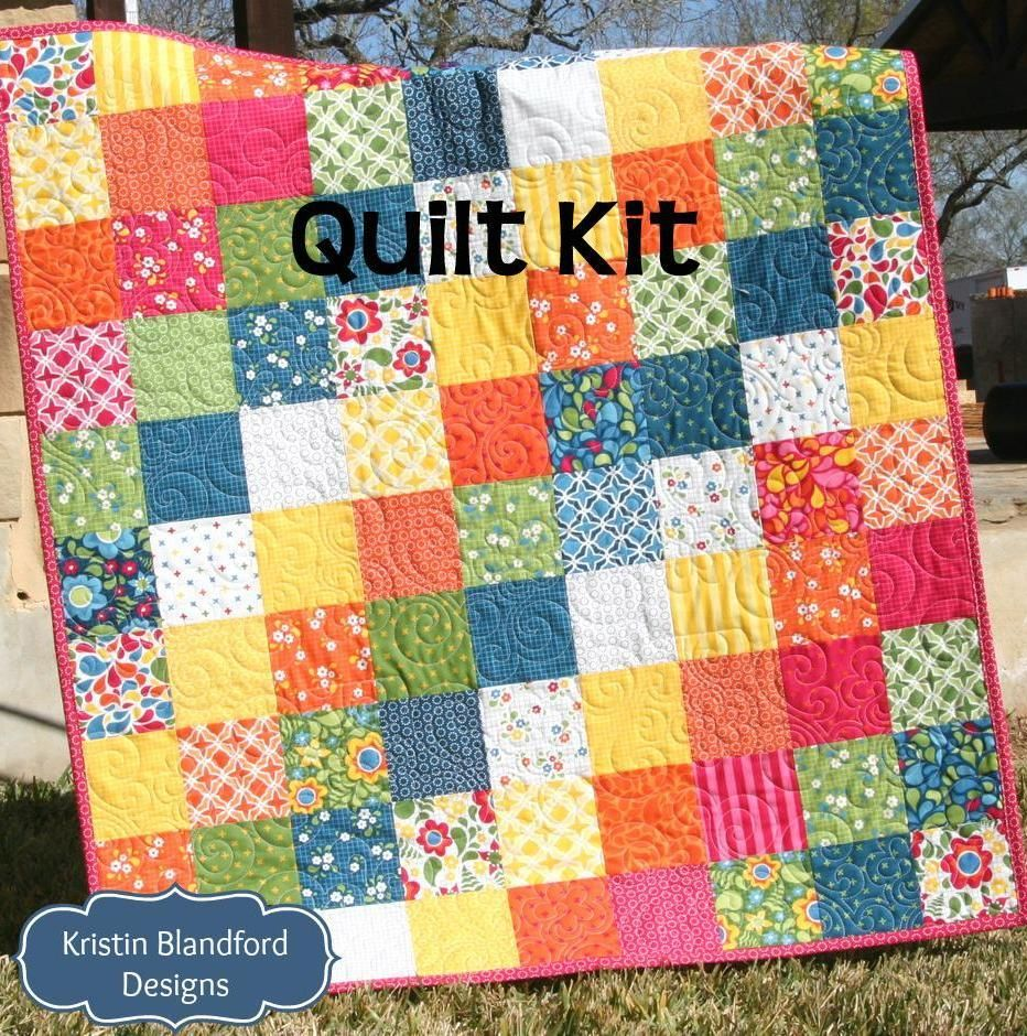 Best Day Ever Patchwork Baby Quilt Kit, Simple Quick Easy ... : baby patchwork quilt kits - Adamdwight.com
