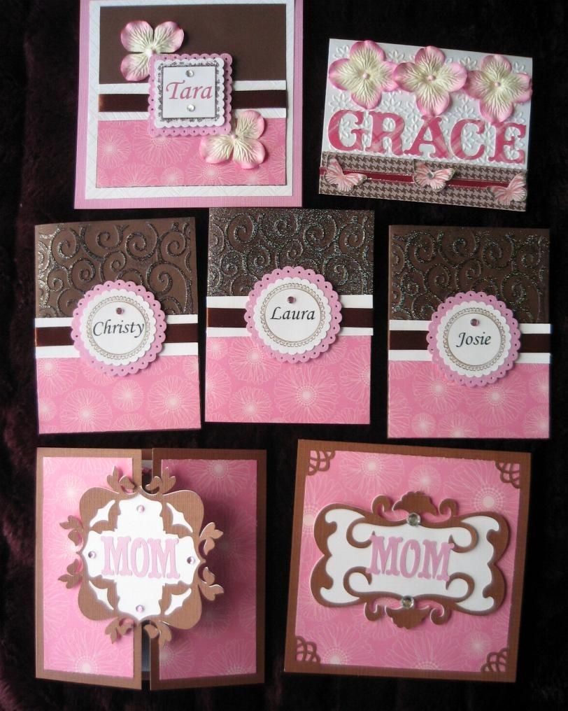 This was a set of custom order Bridal Shower cards for