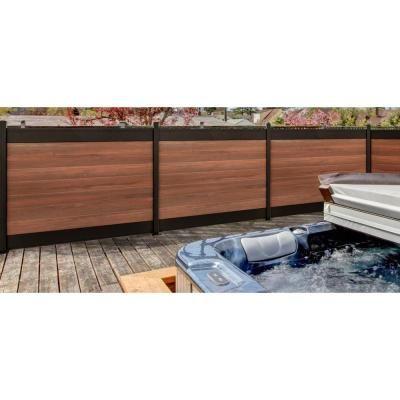 Veranda Euro Style 4 Ft X 6 Ft Black Top King Cedar Aluminum Composite Horizontal Fence Panel Ef 02101 In 2020 Backyard Fences Aluminum Fence Fence Design